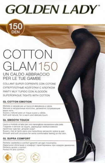 Колготки Golden Lady (Голден Леди) Cotton Glam (150, тёплые)
